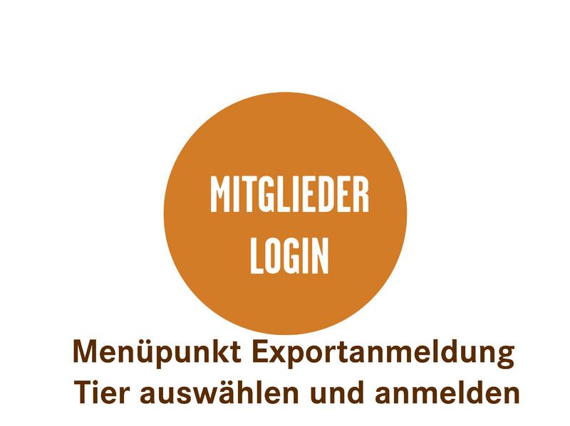 Exportanmeldung Mitglieder